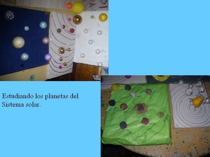 Estudiando los planetas.