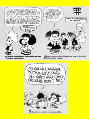 Los derechos del niño según Mafalda ( I )