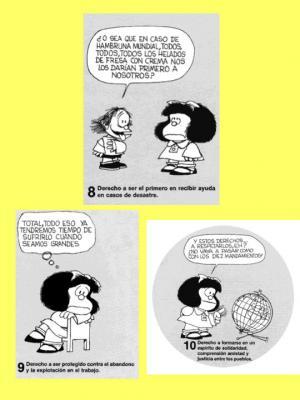 Los derechos del niño según Mafalda ( III )