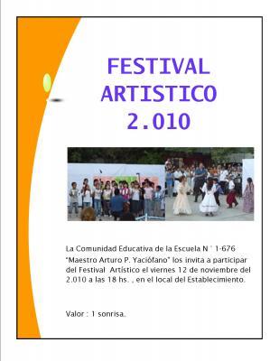 FESTIVAL ARTÍSTICO 2010