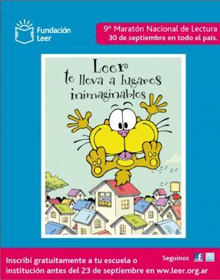 Participación en la 9° Edición  Maratón de la lectura  2011 - Fundación Leer