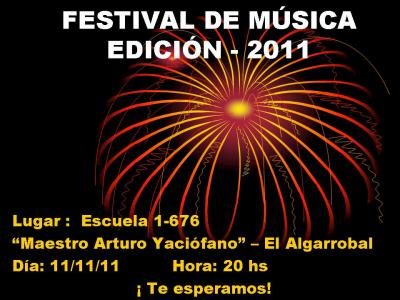 FESTIVAL DE MÚSICA - EDICIÓN 2011