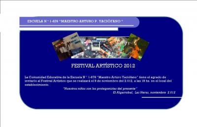 FESTIVAL ARTÍSTICO 2012