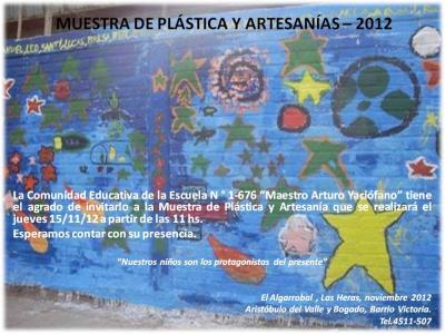 MUESTRA DE PLÁSTICA Y ARTESANÍAS - 2012