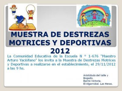 Muestra de destrezas motrices y deportivas 2012